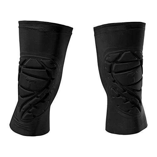 T1TAN Knee Guard 2.0 Knieschützer mit Kompression - Torwart Anti-Rutsch Knieschoner - Knie Protektor schwarz Gr. M