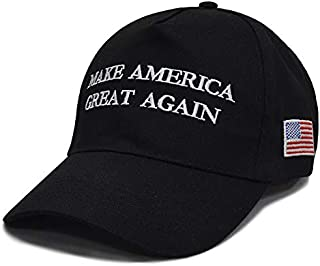 Make America Great Again Donald Trump Slogan with USA Flag Cap Adjustable Baseball Hat