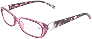 Qi Song Retro Flower Print Reading Glasses Women Eyeglasses Go with Exclusive Pouch qs523