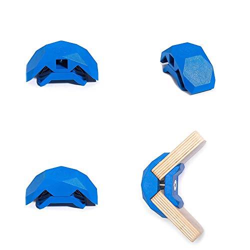 PlayWood Kit de Construcción de 4 Piezas, Pinzas de Plástico con Tornillo...