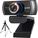 Spedal Webcam with Tripod: HD Camera for Computer, USB Web Cameras 1080P with Microphone for Zoom Video OBS Skype YouTube, Streaming Cam for PC, Laptop, Desktop, Xbox, Windows, Mac