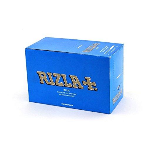 CARTINE RIZLA BLU CORTE confezione da 100 pz - 5000 CARTINE PER SIGARETTE
