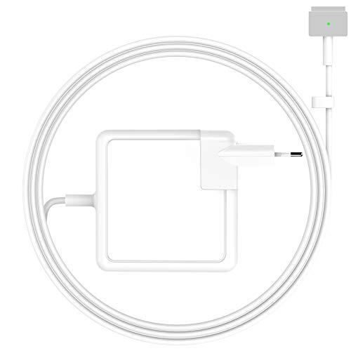 SIXNWELL Cargador Mac Book, Cargador Mac Book Pro, Fuente de alimentación MagSafe 2 T en Forma de 60W, Cargador para Mac Books 11'y 13' (Modelos Finales de 2012, 2013, 2014, principios de 2015)
