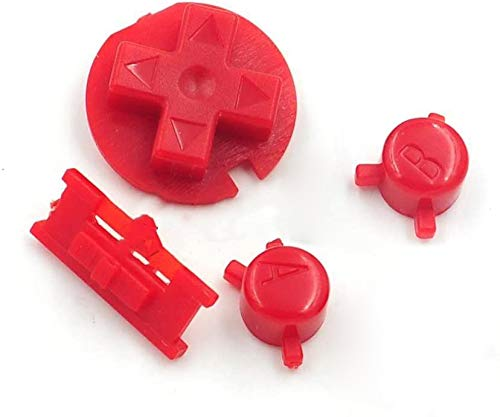 A B Buttons Keypads D Pads Buttons for Nintendo Gameboy Color GBC (Red)
