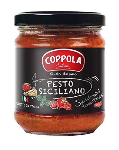 Coppola Pesto Siciliano, Pesto aus sonnengetrockneten Tomaten, 180g (6er Pack)