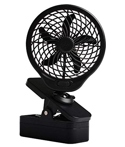 """O2COOL 5"""" Battery Operated Clip Fan Grey"""