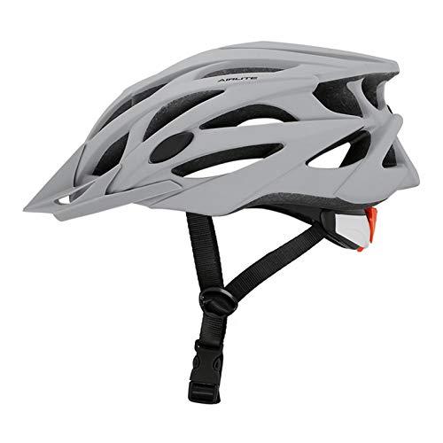 Casco Bicicleta Yuan Ou Adulto Niño Casco de Bicicleta de montaña de Carretera en Molde con Gafas de Sol Deportes al Aire Libre Casco de Ciclismo Unisex Ultraligero M (55-58) Gris