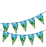 party-decor Golf Course - Bunting Banner 15 flags - for Golf Competition Celebration decoration