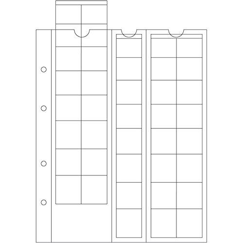 Leuchtturm 308740 5X Münzhüllen Optima zur Münz-Aufbewahrung für Euro-Sätze Fächergröße speziell für 1 Ct bis 2-Euro-Münzen