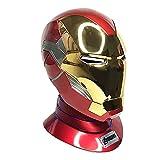 SPOTOR Base del superhéroe de la máscara del hombre de hierro con el altavoz Bluetooth 1: 1 Armadura de hierro Hombre Hombre Casco MK85, apertura eléctrica y cierre usable, serie de vestíbulo de Hallo