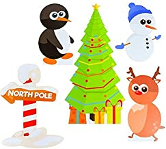 Outdoor Christmas Decorations Holiday Yard Art - Coroplast Xmas Decorations with Stakes - Corrugated Plastic Christmas Yard Signs