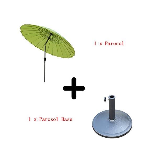 Angel Living 250cm Sonneschirm Sonnenschutz neigbar Rostfrei aus Aluminium, Stahl und Polyester