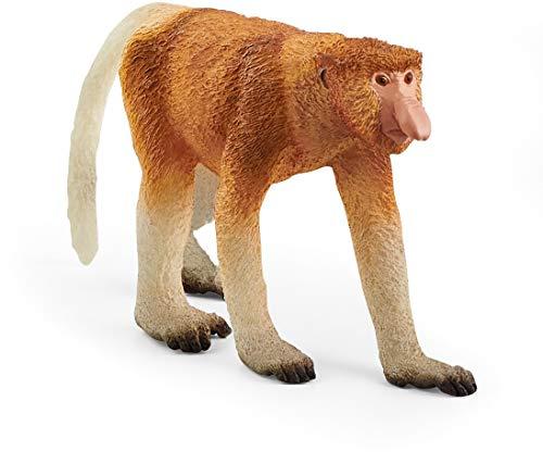 SCHLEICH Wild Life, Animal Figurine, Animal Toys for Boys and Girls 3-8 years old, Proboscis Monkey