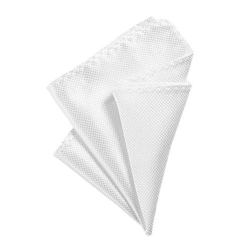 DonDon fazzoletto da taschino 21 x 21 cm per uomo adatto ad occasioni cerimoniali - bianco