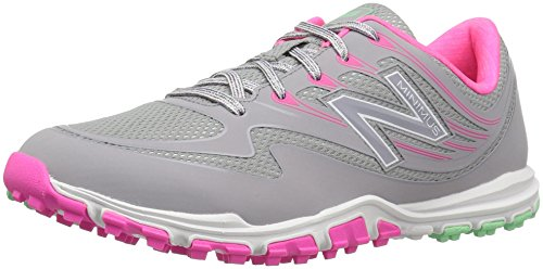 New Balance Women's nbgw1006 Golf Shoe, Grey/Pink, 9 B US