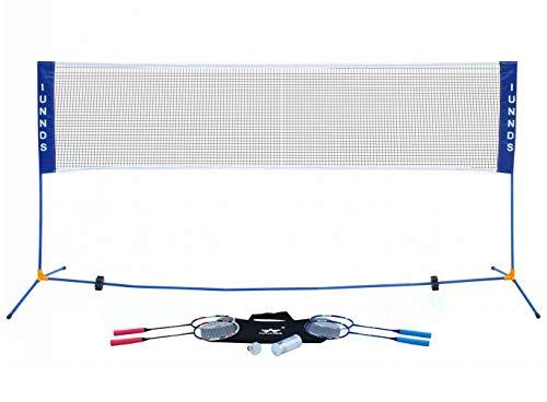 KKB Sport Tragbares Badminton-Netz, höhenverstellbar, mit Ständer, 3,1 m
