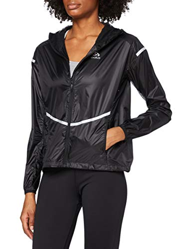 Odlo Jacket zeroweight Light Chaqueta, Mujer, 312251, Negro, Large