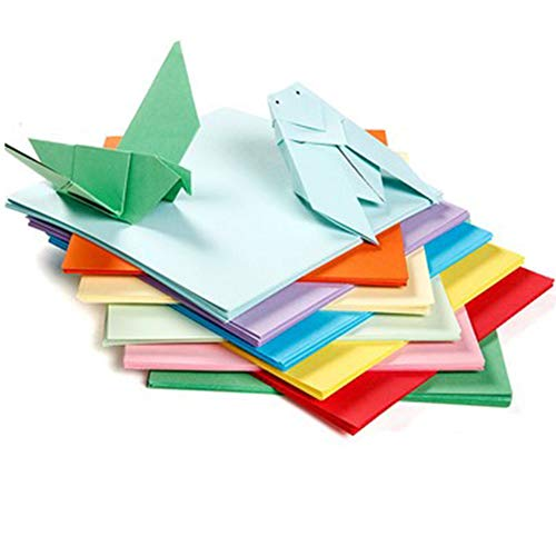 Kisem Papel de Origami de Colores, 200 hojas, 10 Colores Doble Cara...