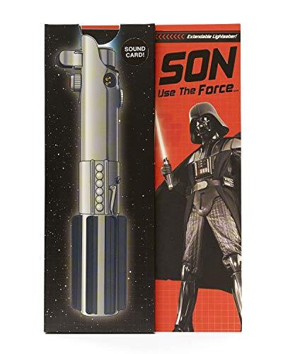 Disney Star Wars Son verjaardagskaart incl. laserzwaard met licht en geluid.