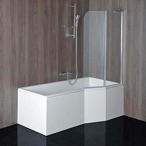 Badewanne VERSYS Rechts 170x85/70cm+ Duschkabine + Styroporträger