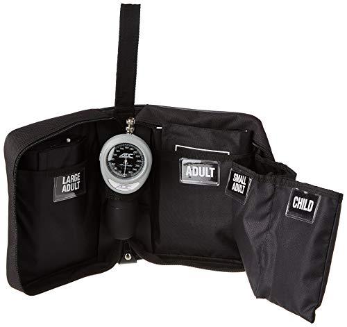 ADC Multikuf™ 731-BK Portables allgemeinmedizinisches Sphygmomanometer Set - 4 Blutdruckmessmanschetten in drei Größen, Schwarz