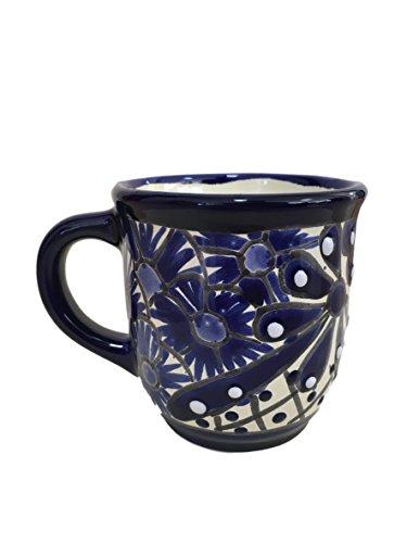 Talavera Tasse – handbemalte mexikanische Kaffeetasse – authentische mexikanische Dekoration – blau und weiß – Taza Mexicana Azul Blanco