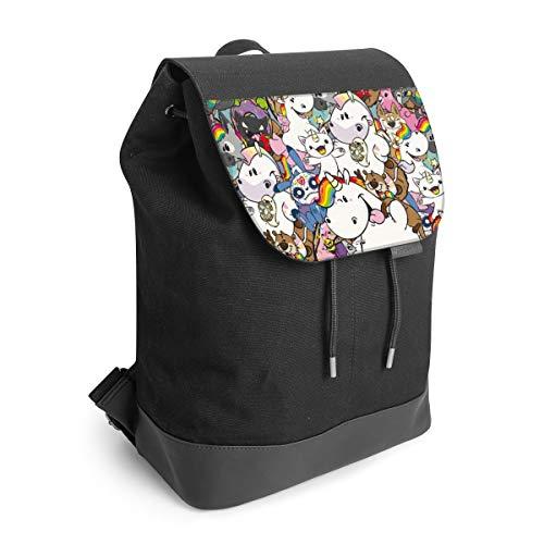 Rucksack mit Lasche 30 cm x 40 cm Daypack für Damen & Herren Tasche mit Motiv Pummeleinhorn Pummel & Friends Offizielles Lizenzprodukt