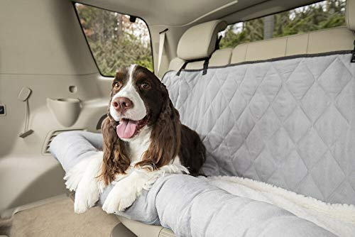 Dog Beds for Cars - PetSafe Happy Ride Car Dog Bed - Best for Bench Seats - Fits Cars, Trucks, Minivans and SUVs - Comfortable and Machine Washable - Durable Vehicle Pet Bed - Grey