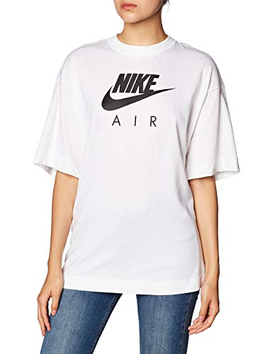 Nike W NSW Air Top SS BF Short Sleeve, Damen, Weiß, M