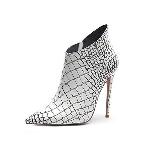 SHZSMHD vrouwen ritssluiting laarzen witte laarzen dunne hakken mode spits dames schoenen nieuwe Chelsea laarzen maat 34-42
