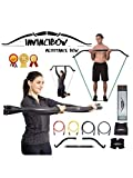Invinci Bow Portable Home Gym Resistance Bands Bars System Fitness Equipment Body Weight Workouts,...