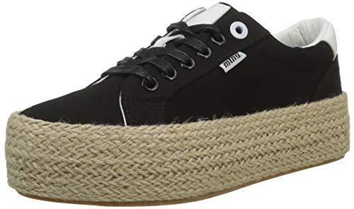 MTNG Attitude Damen 69492 Sneakers, Schwarz (Canvas3 Negro/Action Pu Blanco C46177), 39 EU