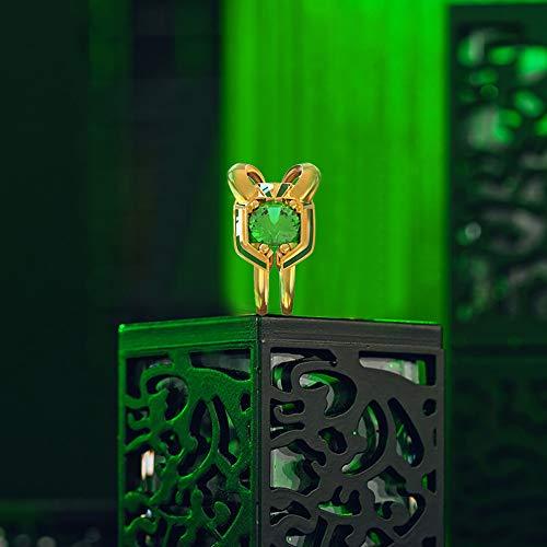 Loki Anello Film Cosplay Accessori Costume Gioielli Fancy Dress Adulto Pandent Set di scatole di Halloween Natale Confezione Regalo
