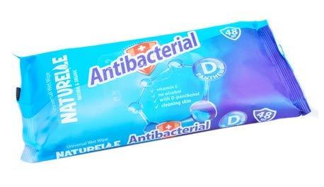 Toallitas húmedas antibacterianas naturales – Limpieza de superficies y manos, 1920 toallitas (40 paquetes de 48)