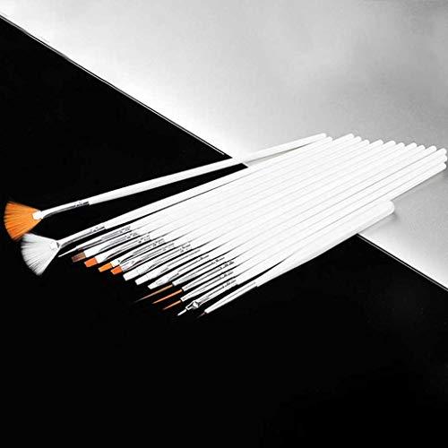 Juego de cepillos de arte de uñas súper fino para líneas finas, herramientas de uñas profesional Cepillo de uñas Nail Art Drawing Pen Gel...