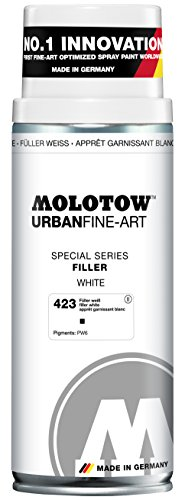Molotow : Urban Fine Art : Artist Acrylic Spray Paint : 400ml : Filler White 423 : Ship By Road Only