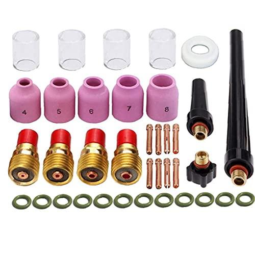 Welder TIG Welding Torch Collet Body Nozzle Kit for Welding Torch 37pcs,Electronic Welding Tools