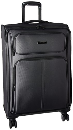 Samsonite Leverage LTE Softside Expandable Luggage with Spinner Wheels, Charcoal, Checked=Medium 25-Inch