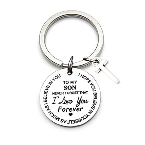 1 llavero con colgante de letra de la A a la Z, llavero portátil con palabras 'To My Daughter', decoración colgante adorno ideal para regalo