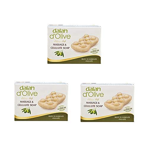 Dalan Olivenöl Olivenölseife Massage Seife Seife für die Massage – Packung mit Drei