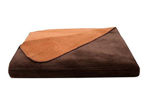 ZOLLNER Manta Grande para Cama y sofá, marrón-Naranja, 150x200 cm