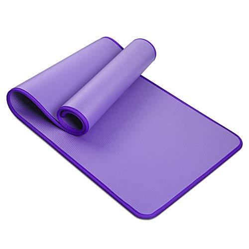 C/N Esterilla de yoga para pilates ejercicio antideslizante entrenamiento fitness entrenamiento grueso NBR esterillas doble capa resistencia al desgarro