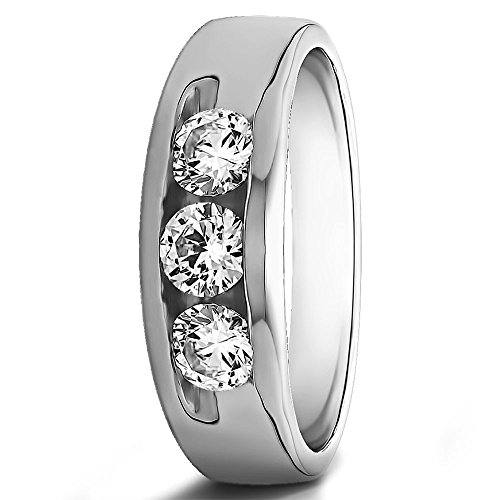 Forever Diamonds - 14 Kt 14 Karat Weißgold Rundschliff Leicht Getöntes Weiß/Crystal (J) Diamant