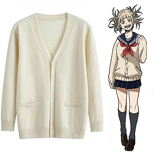 Ayaaa Himiko Toga - Disfraz de uniforme de uniforme de la escuela de hroes que me ha cruzado en el cuerpo, chaqueta de manga larga, top rock, traje universitario, uniforme marinero