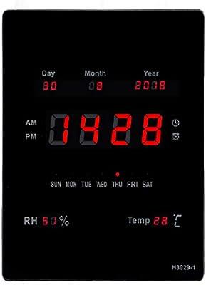 MYLEDI LED Super Brillante Reloj Digital Pared Reloj De La Pared ...