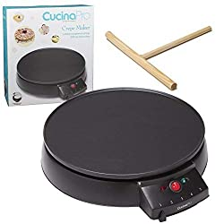 Crepe Maker and Non-Stick Griddle- Electric Crepe Pan