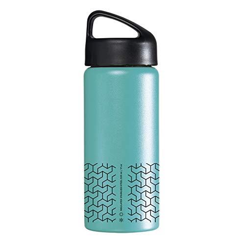 Laken Classic Botella Térmica Acero Inoxidable 18/8, Aislamiento de Vacío con Doble Pared y Boca Ancha, Mare, 500 ml