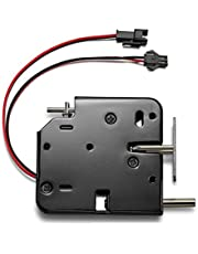 Elektromagnetische slot, DC 12V, elektromagnetische vergrendelingsdeur, kast, schuiflade, elektromagnetische vergrendeling met noodontgrendeling, voor deurtoegangscontrolesysteem