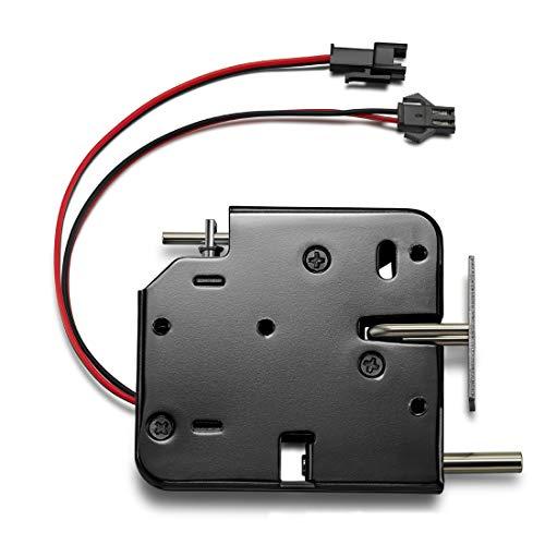 Elektroschloss DC 12V Elektromagnetische Verriegelungstür Schrank Schublade Elektromagnetische Verriegelung Mit Notentriegelung Für Türzugriffskontrollsystem