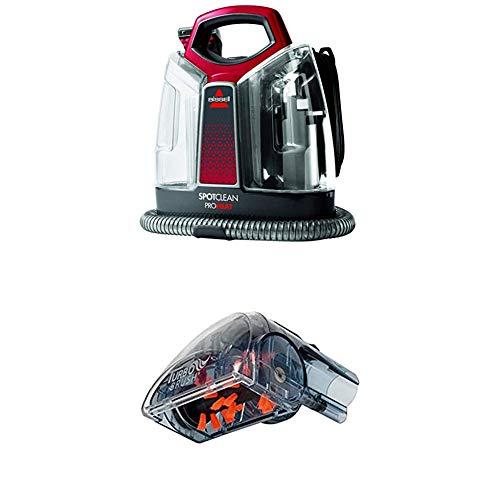 BISSELL 36988 SpotClean ProHeat Flecken-Reinigungsgerät + Power Turbo Bürsten-Aufsatz für alle Bissell Flecken-und Teppichreinigungsgeräte